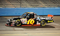 Nov. 13, 2009; Avondale, AZ, USA; NASCAR Camping World Truck Series driver Brian Scott during the Lucas Oil 150 at Phoenix International Raceway. Mandatory Credit: Mark J. Rebilas-