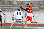 Mission Viejo, CA 05/14/11 - Wylie Drummond (Loyola #10) and Alex Truman (Mission Viejo #15) in action during the Division 2 US Lacrosse / CIF Southern Section Championship game between Mission Viejo and Loyola at Redondo Union High School.