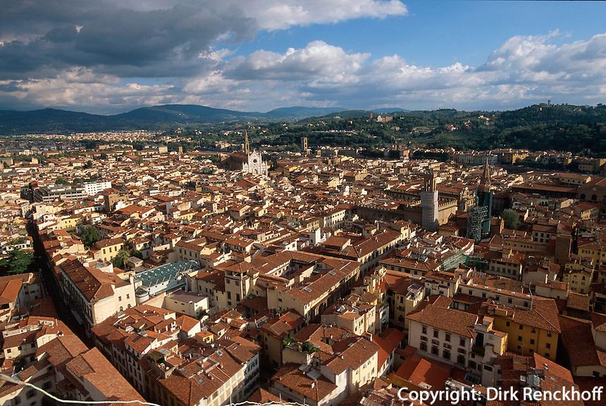 Blick von Domkuppel, Florenz, Toskana, Italien, Unesco-Weltkulturerbe
