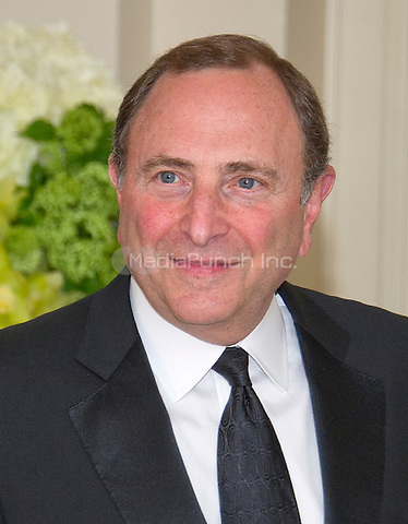 Gary Bettman, Commissioner, National Hockey League, arrives for the State Dinner in honor of Prime Minister Trudeau and Mrs. Sophie Gr&Egrave;goire Trudeau of Canada at the White House in Washington, DC on Thursday, March 10, 2016.<br /> Credit: Ron Sachs / Pool via CNP/MediaPunch