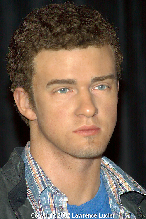 Justin Timberlake's portrait in wax.