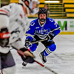29 December 2018: University of Alabama Huntsville Charger Forward Bauer Neudecker, a Freshman from St. Louis Park, MN, in first period action against the Northeastern University Huskies at Gutterson Fieldhouse in Burlington, Vermont. The Huskies shut out the Chargers 2-0 in the Catamount Cup tournament at the University of Vermont. Mandatory Credit: Ed Wolfstein Photo *** RAW (NEF) Image File Available ***