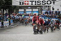 Team Norway driving the peloton<br /> <br /> Men Under-23 Road Race<br /> <br /> UCI 2017 Road World Championships - Bergen/Norway