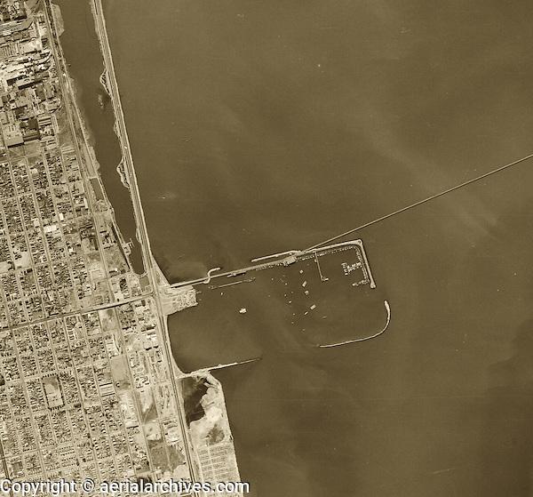 historical aerial photograph Berkeley Marina, 1946