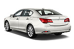 Car pictures of rear three quarter view of 2016-2017 Acura RLX Sport Hybrid 4 Door Sedan angular rear