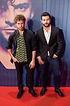 Antonio Velazquez (R) attends David Bisbal´s new music album premiere photocall at Callao cinema in Madrid, Spain. March 17, 2014. (ALTERPHOTOS/Victor Blanco)