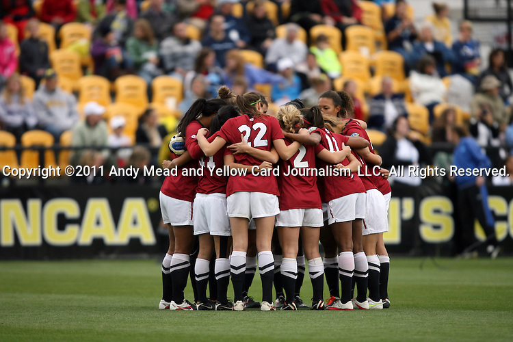 04 December 2011: Stanford's starters before the game. The Stanford University Cardinal played the Duke University Blue Devils at KSU Soccer Stadium in Kennesaw, Georgia in the NCAA Division I Women's Soccer College Cup Final.