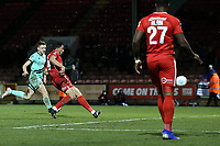 O's Macauley Bonne scores O's 2nd goal and celebrates during Leyton Orient vs Gateshead, Vanarama National League Football at The Breyer Group Stadium on 1st December 2018