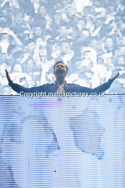 PICTURE: GRAHAM READING / MATRIXPICTURES.CO.UK<br /> PLEASE CREDIT ALL USES<br /> <br /> WORLD RIGHTS<br /> <br /> David Guetta performs on day 2 of the Isle of Wight Festival at Seaclose Park.<br /> <br /> JUNE 9th 2017<br /> <br /> REF: GRG 171203