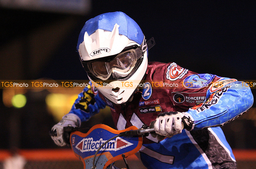 Stuart Robson of Lakeside Hammers - Lakeside Hammers vs Ipswich Witches, Elite League Speedway at the Arena Essex Raceway, Purfleet - 07/05/10 - MANDATORY CREDIT: Rob Newell/TGSPHOTO - Self billing applies where appropriate - 0845 094 6026 - contact@tgsphoto.co.uk - NO UNPAID USE.