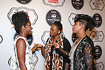 Actress Teyonah Parris,Essence Editor Vanessa K. De Luca and Actress Tichina Arnold attend 2016 ESSENCE Best in Black Beauty Awards Carnival