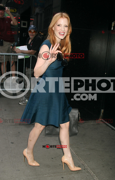 NEW YORK, NY - AUGUST 21, 2012: Jessica Chastain at Good Morning America to talk about her  new movie Lawless in New York City. &copy; RW/MediaPunch Inc. /NortePhoto.com<br /> <br /> **SOLO*VENTA*EN*MEXICO**<br /> **CREDITO*OBLIGATORIO**<br /> *No*Venta*A*Terceros*<br /> *No*Sale*So*third*<br /> *** No Se Permite Hacer Archivo**<br /> *No*Sale*So*third*