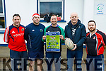 Attending the launch of the Tralee Rugby Club's St Stephens Day 5k Family Fun Run / Walk at the Tralee Rugby Club on Saturday morning last.  L to r, Anthony Clifford, Simon Coffey, Richard Sharp, Patrick Lane and Liam Murphy.