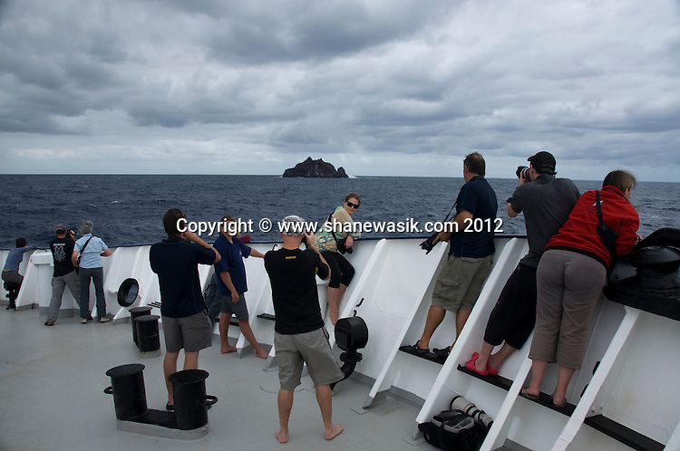 The crew sighted L'Esperance Rock, the most southerly island of the Kermadec island group, New Zealand.