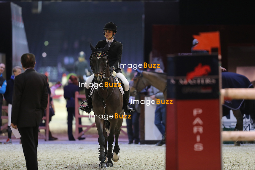 CPE/1rst December 2012-Paris Nord, Villepinte (FR)-Princess Charlotte Casiraghi is seen disappointed after being eliminated from the Masters Grand Slam competition for the second time during the Gucci Paris Masters 2012..Thierry Rozier and her mother Princess Caroline of Hanover came to comfort her.