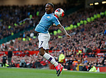 Raheem Sterling of Manchester City arches to try and collect the ball during the Premier League match at Old Trafford, Manchester. Picture date: 8th March 2020. Picture credit should read: Darren Staples/Sportimage