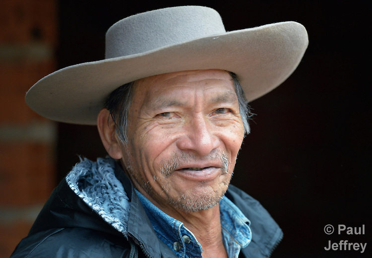 Gregorio Galarza is a Guarani indigenous man who lives in the village of Kapiguasuti, Bolivia. He and his neighbors started small gardens with assistance from Church World Service, supplementing their corn-based diet with nutritious vegetables and fruits.