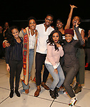 Storm Lever with fellow Broadway debuts during the Opening Night Actors' Equity Gypsy Robe Ceremony honoring  Afra Hines for 'Summer:The Donna Summer Musical at Lunt-Fontanne Theatre on April 23, 2018 in New York City.