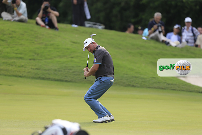 Graeme McDowell (NIR) on the 13th green during Round 1 of the 2015 UBS Hong Kong Open at the Hong Kong Golf Club in The Netherlands on 2/10/15.<br /> Picture: Thos Caffrey | Golffile