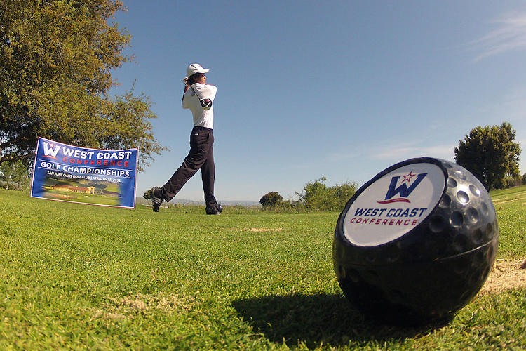 April 17, 2012; Hollister, CA, USA; Saint Mary's Gaels golfer Jonathan De Los Reyes during the WCC Golf Championships at San Juan Oaks Golf Club.