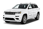2017 JEEP Grand-Cherokee Summit 5 Door SUV Angular Front stock photos of front three quarter view