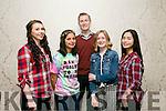 Aoife O'Mahony, Ciara Sookarry, Paul J. Brosnan, Eimear O'Sullivan and Vaneza Pianagsagan at the Kerry Comhairle na nÓg 1916-2016 Fashion Show at The Ashe Hotel on Sunday