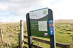 Fyfield Down national nature reserve sign, Wiltshire, Marlborough Downs, Wiltshire, England, UK