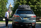 Aug. 23, 2013; Move-in traffic on Notre Dame Avenue<br /> <br /> Photo by Matt Cashore/University of Notre Dame