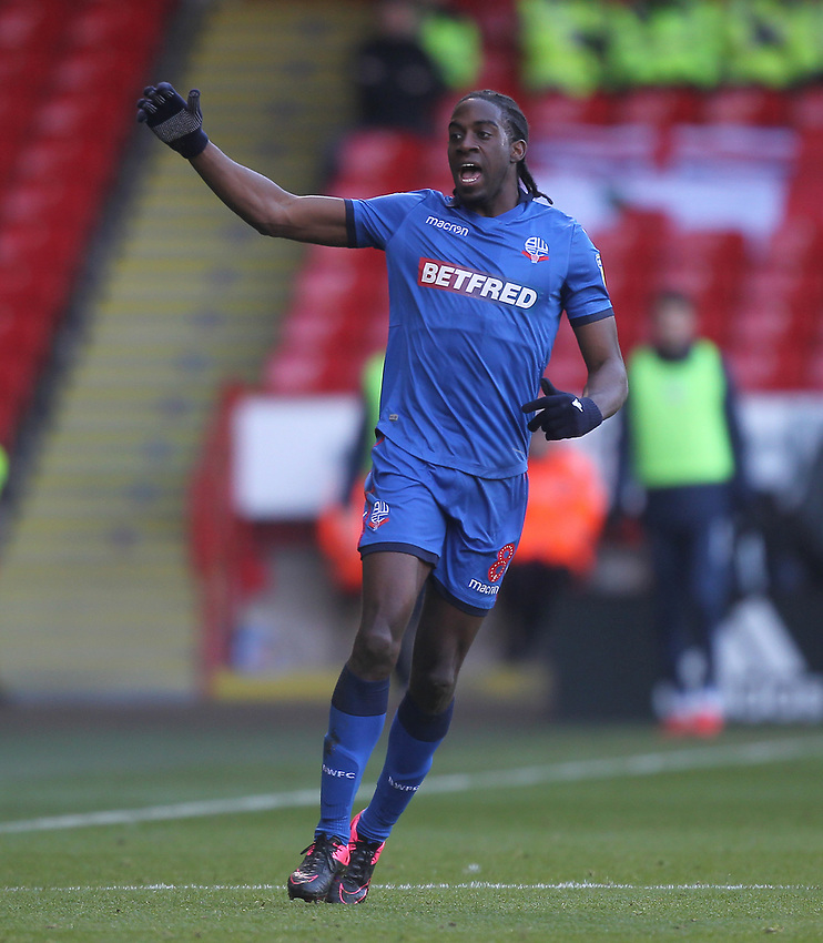 Bolton Wanderers Clayton Donaldson <br /> <br /> Photographer Mick Walker/CameraSport<br /> <br /> The EFL Sky Bet Championship - Sheffield United v Bolton Wanderers - Saturday 2nd February 2019 - Bramall Lane - Sheffield<br /> <br /> World Copyright © 2019 CameraSport. All rights reserved. 43 Linden Ave. Countesthorpe. Leicester. England. LE8 5PG - Tel: +44 (0) 116 277 4147 - admin@camerasport.com - www.camerasport.com