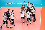 16.09.2019, Lotto Arena, Antwerpen<br />Volleyball, Europameisterschaft, Deutschland (GER) vs. …sterreich / Oesterreich (AUT)<br /><br />Jubel Deutschland nach SIeg<br />Christian Fromm (#1 GER), Noah Baxpšhler / Baxpoehler (#15 GER), Tobias Krick (#2 GER), Anton Brehme (#12 GER), Julian Zenger (#10 GER), Moritz Karlitzek (#14 GER), Georg Grozer (#9 GER), Simon Hirsch (#13 GER), Georg Grozer (#9 GER), Marcus Bšhme / Boehme (#8 GER), Moritz Reichert (#5 GER), Ruben Schott (#3 GER)<br /><br />  Foto © nordphoto / Kurth