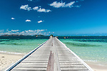 Jetty on Mana Island, location of Mana Island Resort in the Mamanuca Islands, Fij