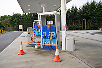 Petrol station closed as it has ran out of petrol because of fuel shortages which has led to panic buying..©shoutpictures.com..john@shoutpictures.com