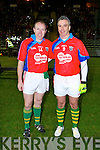 Kerry's Seamus Moynihan and Galway's Padraig Joyce who played for the Sigerson Cup team at Austin Stack park, Tralee on Friday.