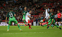 Harry Kane of England with a second half shot<br /> <br /> Photographer Rob Newell/CameraSport<br /> <br /> FIFA World Cup Qualifying - European Region - Group F - England v Slovenia - Thursday 5th October 2017 - Wembley Stadium - London<br /> <br /> World Copyright &copy; 2017 CameraSport. All rights reserved. 43 Linden Ave. Countesthorpe. Leicester. England. LE8 5PG - Tel: +44 (0) 116 277 4147 - admin@camerasport.com - www.camerasport.com