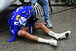A very dissapointed Julian Alaphilippe (FRA) Quick-Step Floors the the end of a wet miserable Stage 7 of the 2018 Paris-Nice running 175km from Nice to Valdeblore la Colmiane, France. 10th March 2018.<br /> Picture: ASO/Alex Broadway   Cyclefile<br /> <br /> <br /> All photos usage must carry mandatory copyright credit (&copy; Cyclefile   ASO/Alex Broadway)