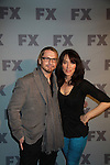 Katey Sagal and Kurt Sutter star in FX's Sons of Anarchy as they pose on the red carpet at FX 2012 Ad Sales Upfront held on March 29, 2012 at Lucky Stirke, New York, New York. (Photo by Sue Coflin/Max Photos)