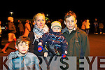 Pictured at the Aquadome fireworks on New Year's Eve were l-r: Paulas, Dalia, Rockas and Benas Zymantei (Tralee)