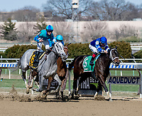 OZONE PARK, NY - APRIL 07: on Wood Memorial Stakes Day at Aqueduct Race Track on April 7, 2018 in Ozone Park, New York. (Photo by Dan Heary/Eclipse Sportswire/Getty Images)