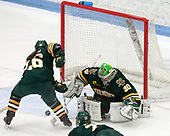 Éve-Audrey Picard (UVM - 26), Madison Litchfield (UVM - 30) -  The Boston College Eagles defeated the University of Vermont Catamounts 4-3 in double overtime in their Hockey East semi-final on Saturday, March 4, 2017, at Walter Brown Arena in Boston, Massachusetts.