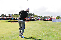 Johan Edfors plays his 2nd shot from the rough on the 9th hole during the Final Round of the 3 Irish Open on 17th May 2009 (Photo by Eoin Clarke/GOLFFILE)
