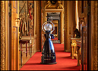 BNPS.co.uk (01202 558833)<br /> Pic: PhilYeomans/BNPS<br /> <br /> Robot Tours...Boffins from the Oxford Robotics Institute test Betty the autonomous robot around Blenheim Palace.<br /> <br /> Historic Blenheim Palace is embracing new technology by trying out a new robotic tour guide.<br /> <br /> 'Betty' will be interacting with visitors at the Oxfordshire UNESCO World Heritage Site as part of a five-day trial this week.<br /> <br /> The robot is greeting visitors in the Great Hall and providing snippets of information about the palace and its history, as well as taking photos with the public and uploading them to social media.
