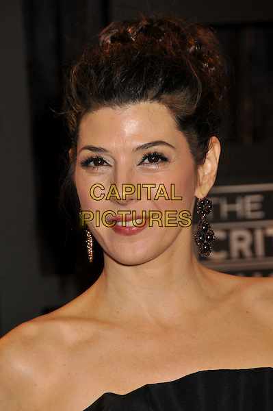 MARISA TOMEI.14th Annual Critics Choice Awards at the Santa Monica Civic Auditorium, Santa Monica, California, USA..January 8th, 2009.headshot portrait earrings black strapless .CAP/ADM/BP.©Byron Purvis/AdMedia/Capital Pictures.