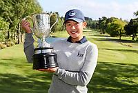 Vivian Lu with the Women's Amateur Trophy. New Zealand Amateur Championship, Wairakei Golf Course and Sanctuary, Taupo, New Zealand, Sunday 4  November 2018. Photo: Simon Watts/www.bwmedia.co.nz