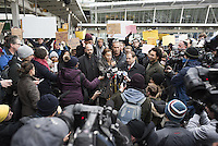 www.acepixs.com<br /> <br /> January 28 2017, New York City<br /> <br /> Hameed Khalid Darweesh  celebrates his release from Immigration at JFK Airport on January 28 2017 in New York City. Darweesh, who has been an Army interpreter in Iraq, was traveling with his wife and three kids when agents pulled him aside at John F. Kennedy International Airport following President Trump's controversial executive order that halted refugees and residents from predominantly Muslim countries from entering the United States <br /> <br /> By Line: Solar/ACE Pictures<br /> <br /> ACE Pictures Inc<br /> Tel: 6467670430<br /> Email: info@acepixs.com<br /> www.acepixs.com
