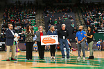 DENTON - FEBRUARY 9: Mean Green Men's Basketball v Western Kentucky Hilltoppers at Super Pit - North Texas Coliseum on February 9, 2019 in Denton, Texas (Photo by Rick Yeatts )