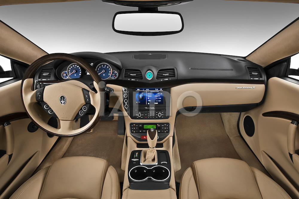 Straight dashboard view of a 2010 Maserati Granturismo S Automatic Coupe