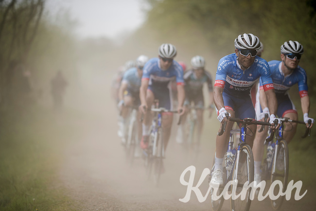 team Total Direct Energie racing over the Breton gravel roads<br /> <br /> 36th TRO BRO LEON 2019 (FRA)<br /> One day race from Plouguerneau to Lannilis (205km)<br /> <br /> ©kramon