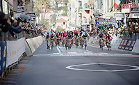 bunch sprint on the Via Roma<br /> <br /> 106th Milano - San Remo 2015