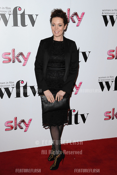 Olivia Colman arriving for the Women in Film and Tv Awards 2012 at the Park Lane Hilton, London. 07/12/2012 Picture by: Steve Vas / Featureflash