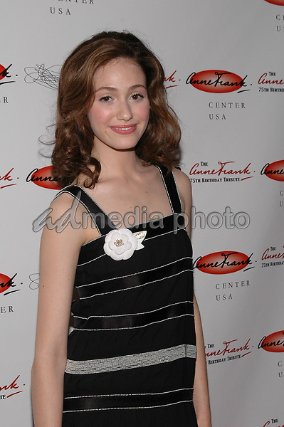7June 2005 - New York, New York - Emmy Rossum arrives at the Anne Frank 75th Birthday Tribute at the Chelsea Piers where she will join other stars in readings of the famous teen's works. <br />